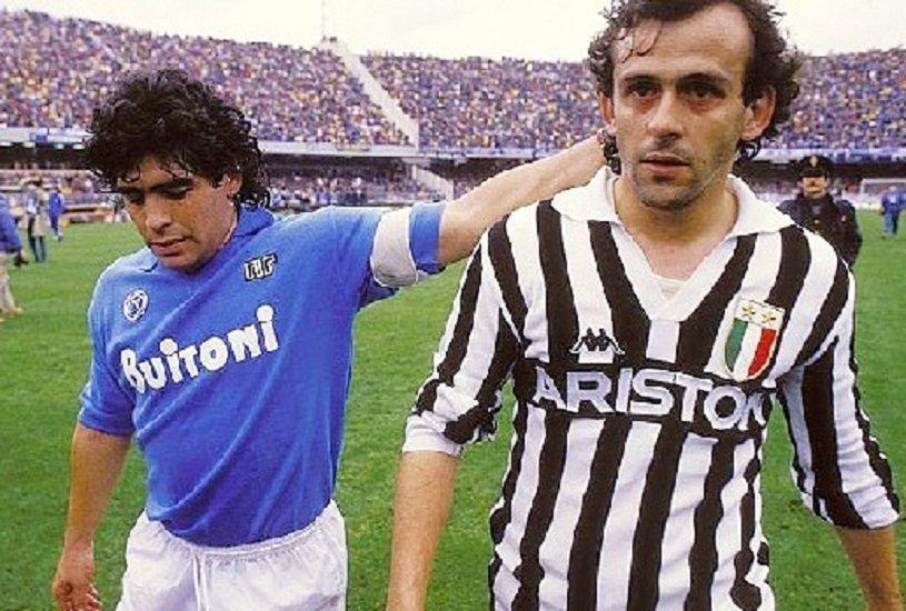 Maradona e Platini, due campioni uniti dareciproco rispetto