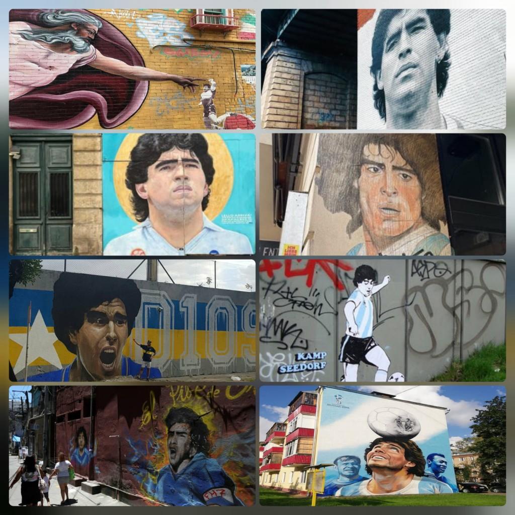 Murales di Maradona in ogni angolo del mondo