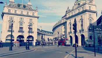 Piccadilly Circus e Oxford Street a Maggio 2020