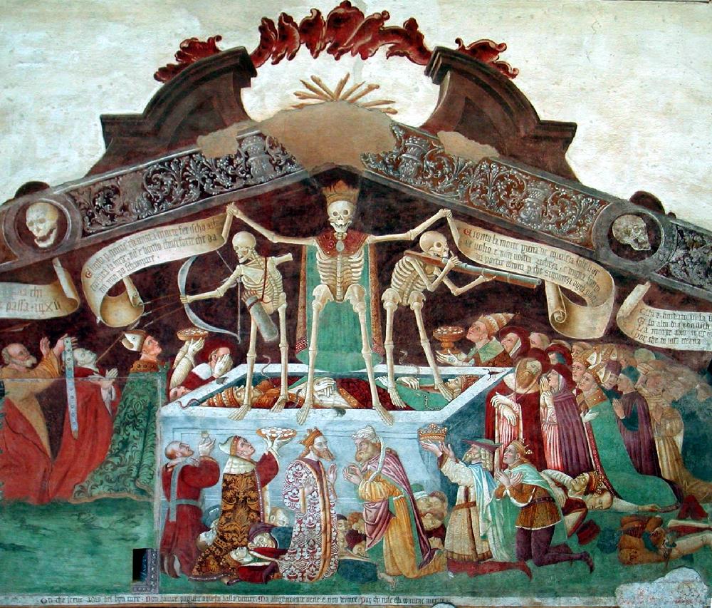Trionfo della morte,. Oratorio dei disciplini, Clusone