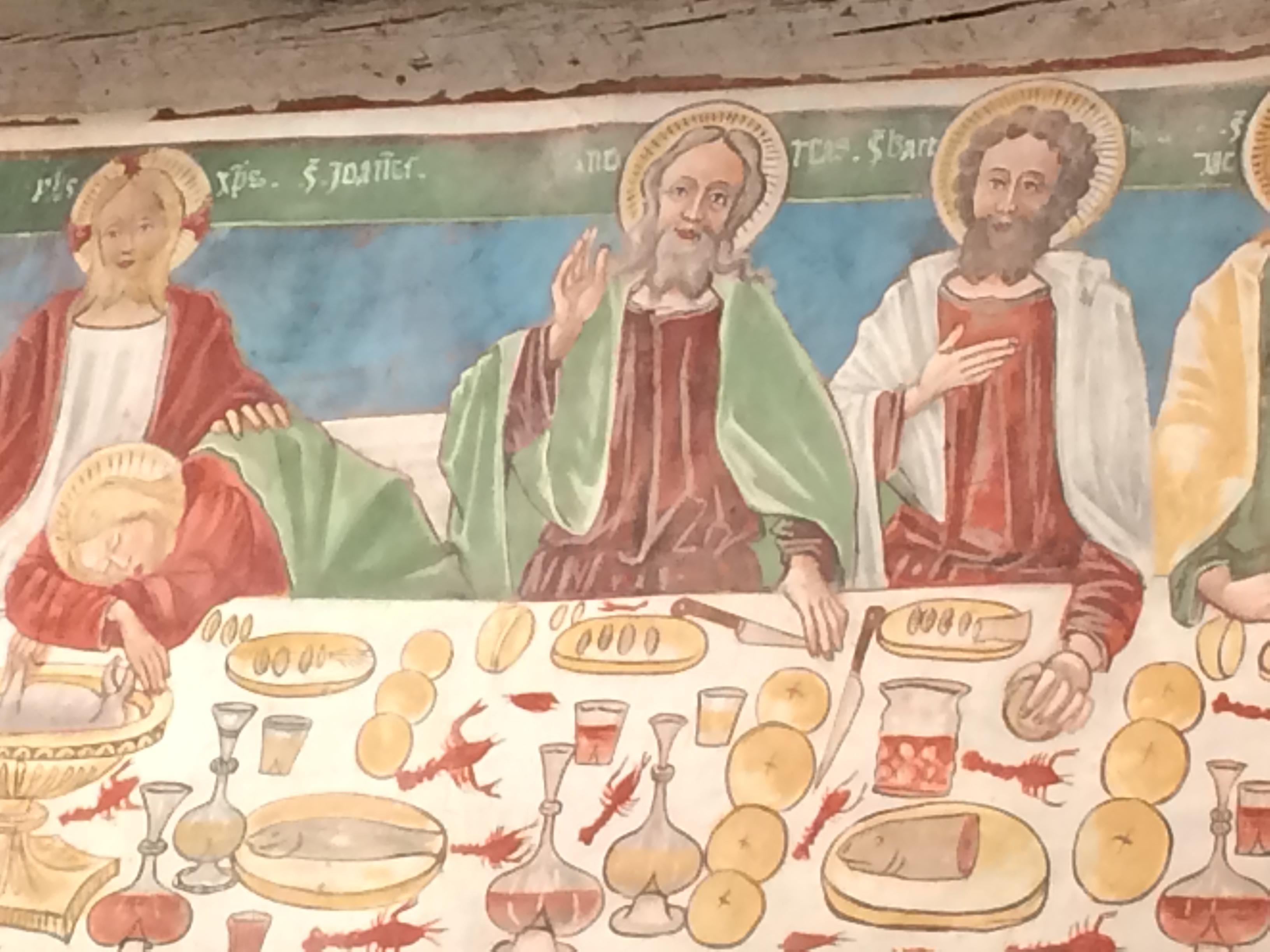 Ultima cena, chiesa di Santo Stefano. Carisolo