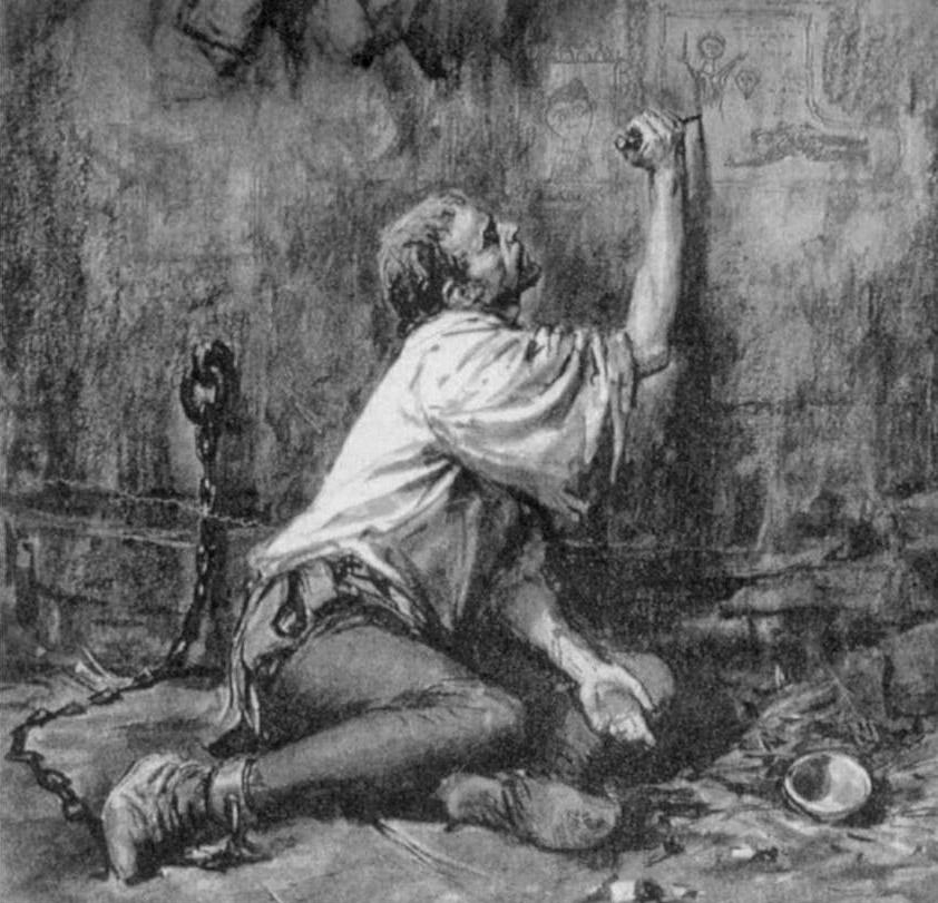 Messer Filippo nella cella del castello di Spilamberto