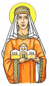 Una raffigurazione di Santa Alice