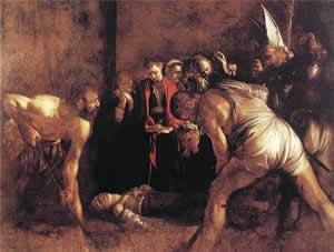 Il seppellimento di Santa Lucia, Caravaggio