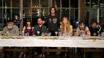 Foto di gruppo per il cast del film