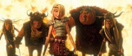 La bellissima Astrid e gli altri personaggi del film
