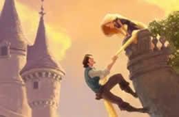 Una romantica scena da Rapunzel
