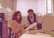 Roberto & Lia nella redazione di Cuore