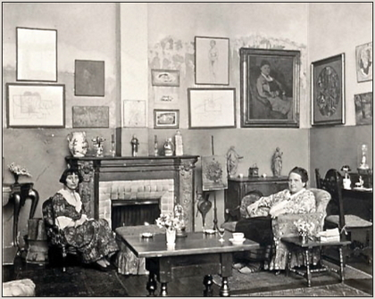 Gertrude Stein and Alice B. Toklas in una foto di Man Ray